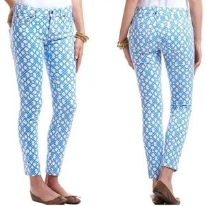 New Vinyard Vines lattice print ankle jeans 8